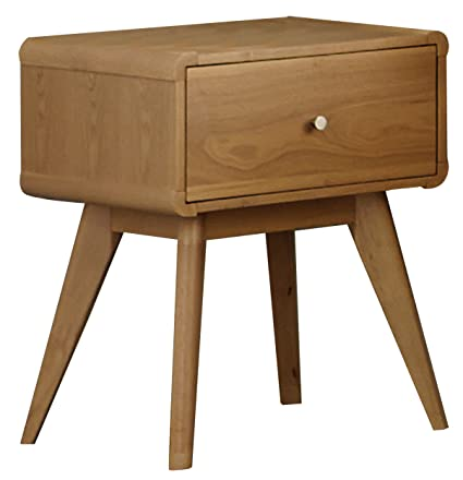 outlet store 43e9f 019bc Homelegance Anika Danish Mid-Century Nightstand, Light Oak