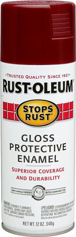 Rust-Oleum 7768830 Stops Rust Spray Paint, 12-Ounce, Gloss Burgundy