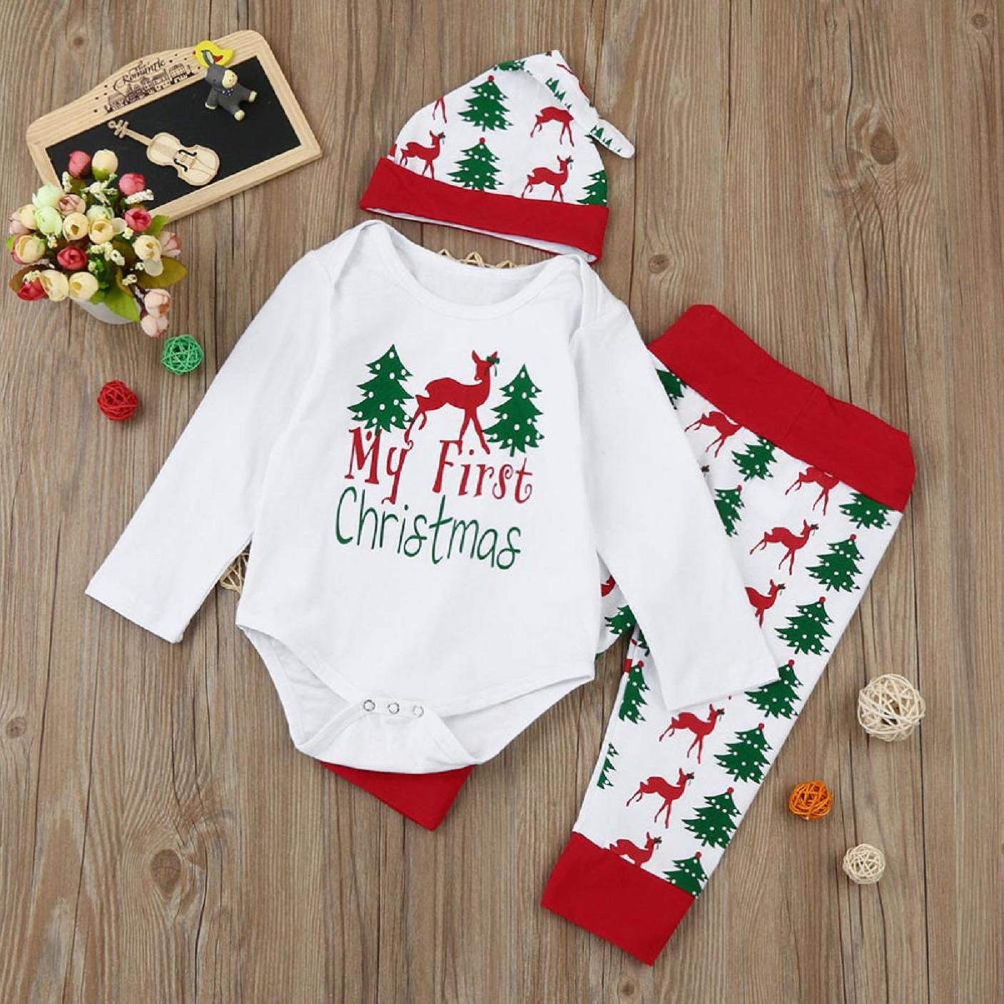 Moginp Christmas Promotion Newborn Xmas Long Sleeve Winter Outfits ...