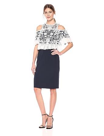 95e98a98cb3 Tadashi Shoji Women s Cld Shlder Ace Neoprene Dress at Amazon Women s  Clothing store
