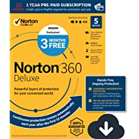 Deals on Norton 360 Deluxe 15 Month Subscription 5 Device PC Mac Digital Download