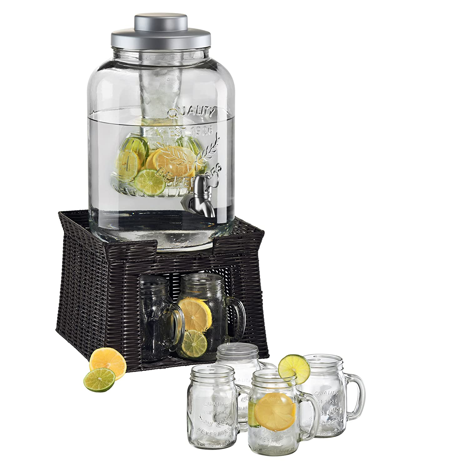Amazoncom Oasis Beverage Jar with Chiller and Infuser 6 Mason