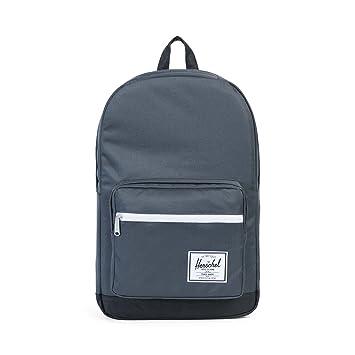 3feb10aad36 Amazon.com   Herschel Pop Quiz Backpack, Dark Shaddow Black Synthetic  Leather   Casual Daypacks