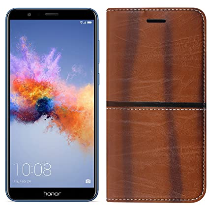 san francisco b8e83 8a8a3 (Buy 1 Get 1 Tempered Glass Free) Roxel Honor 7X Rich Boss Leather Flip  Cover with [ Stand View & Card Holder Option ] Leather Flip Cover for Honor  7X ...