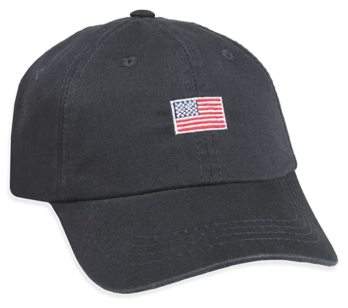 03a980ab9455f American Flag Dad Hat (Navy) at Amazon Men s Clothing store
