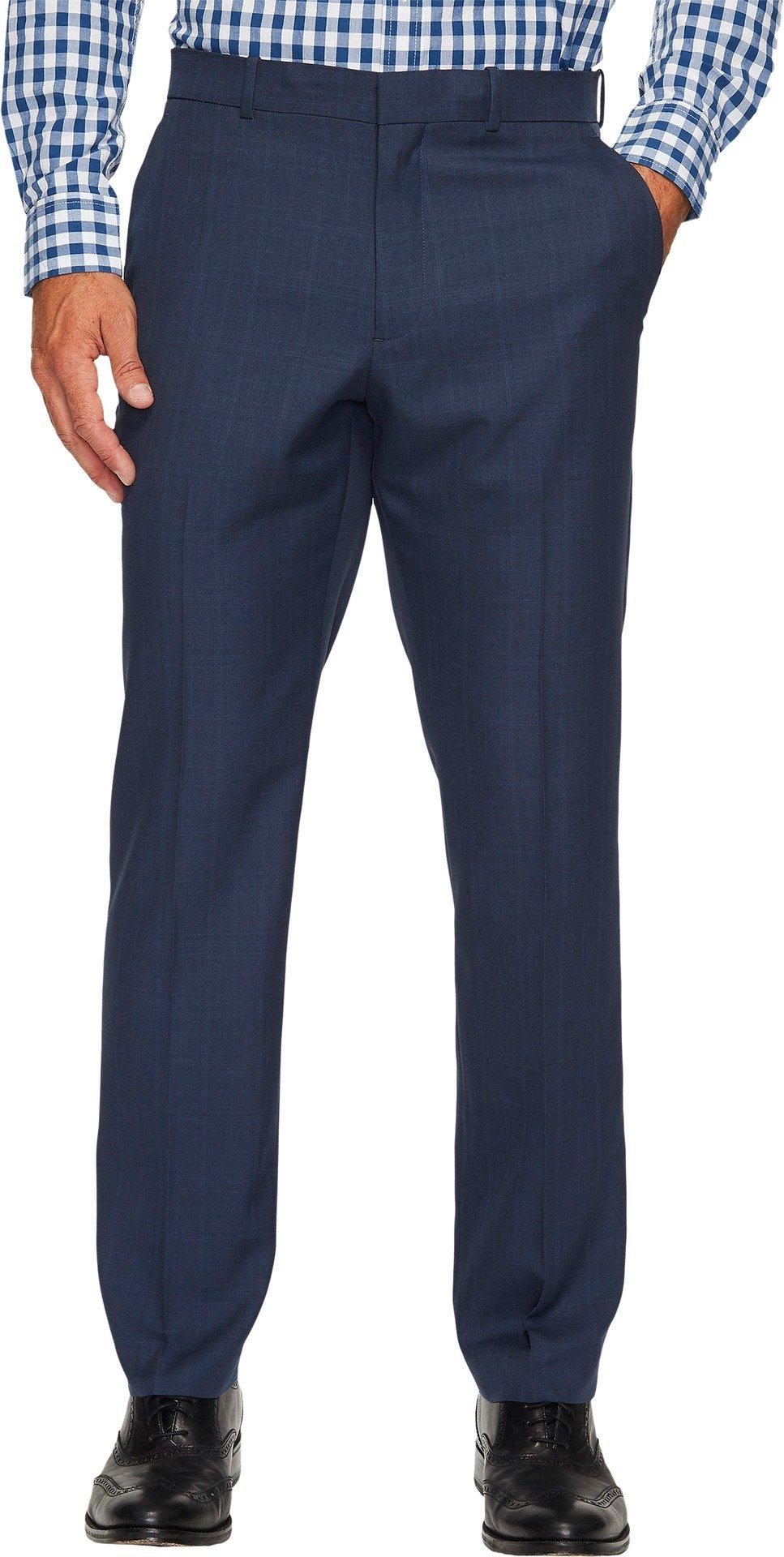 Perry Ellis Men's Portfolio Modern Fit Performance Pant, Mood Indigo, 36x32