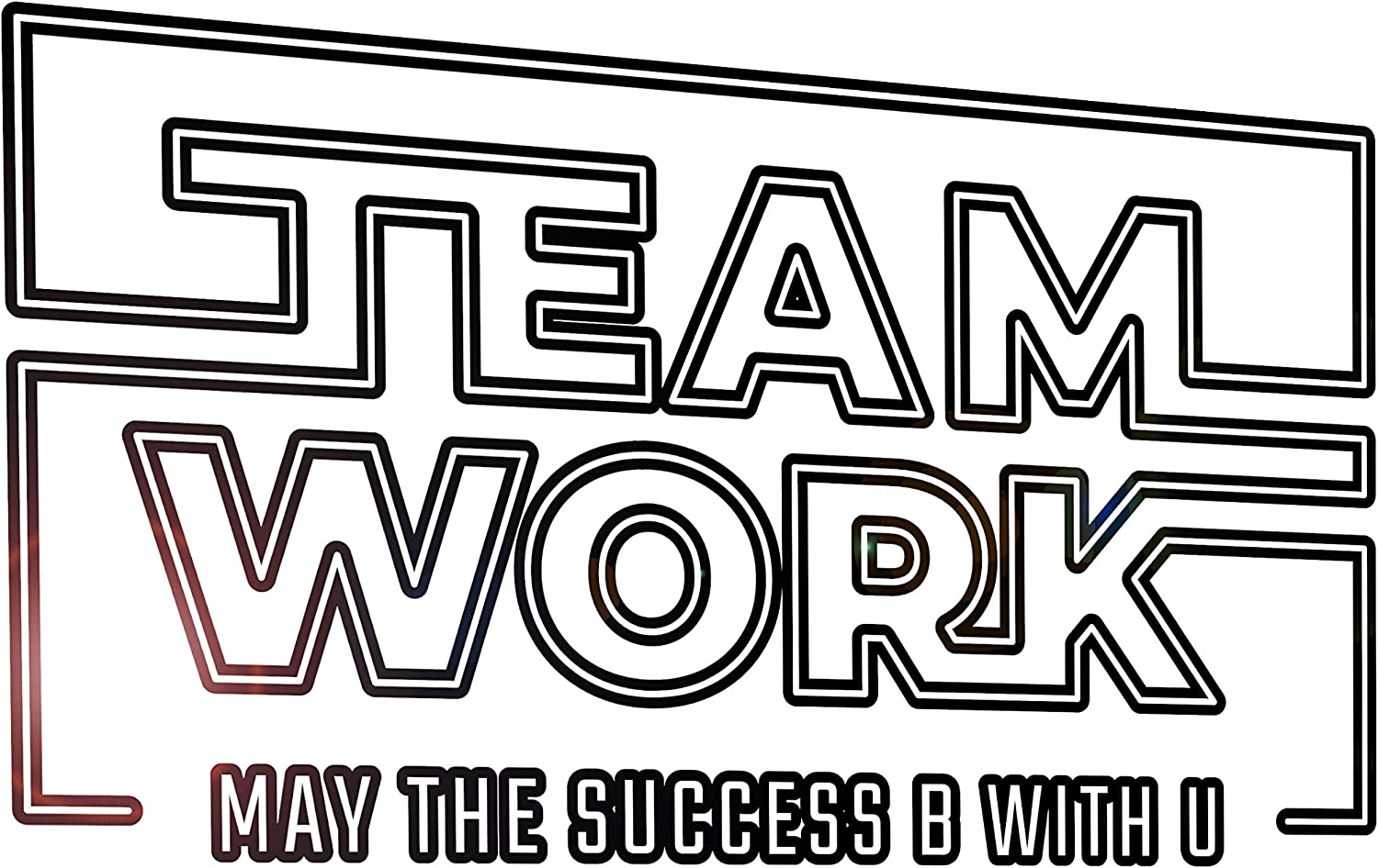 Vinyl Wall Decal Words Teamwork Star Wars Work Office Stickers Mural 33 in x 17.5 in gz237