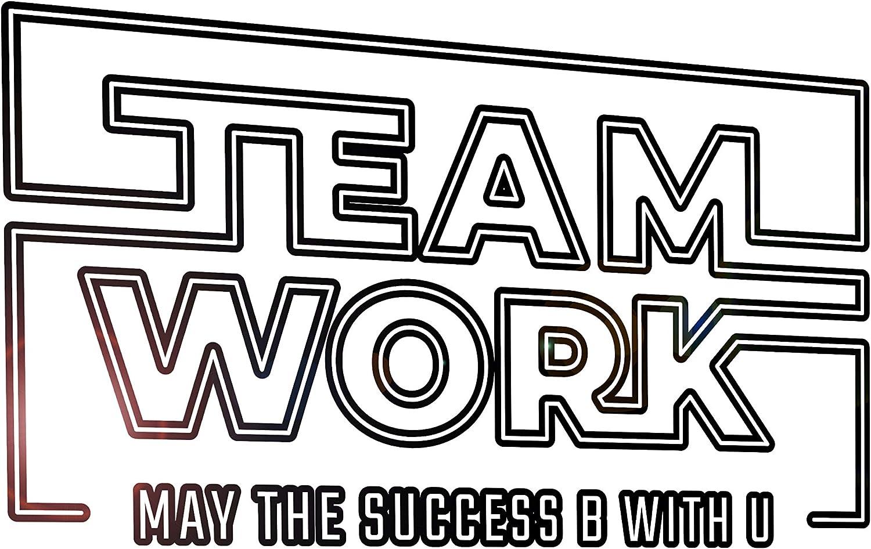 Vinyl Wall Decal Words Teamwork Star Wars Work Office Stickers Mural 33 in x 17.5 in gz237