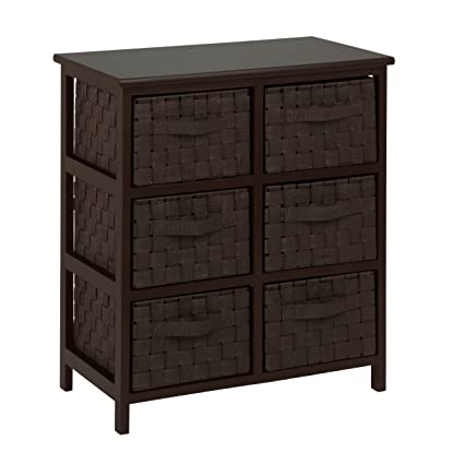 storage chest with drawers. Honey-Can-Do TBL-03759 6-Drawer Storage Chest With Woven- Drawers I