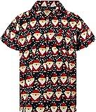 KAMEHAMEHA King Kameha Hawaiian Shirt for Men Funky Casual Button Down Very Loud Shortsleeve Christmas Unisex X-Mas Mix