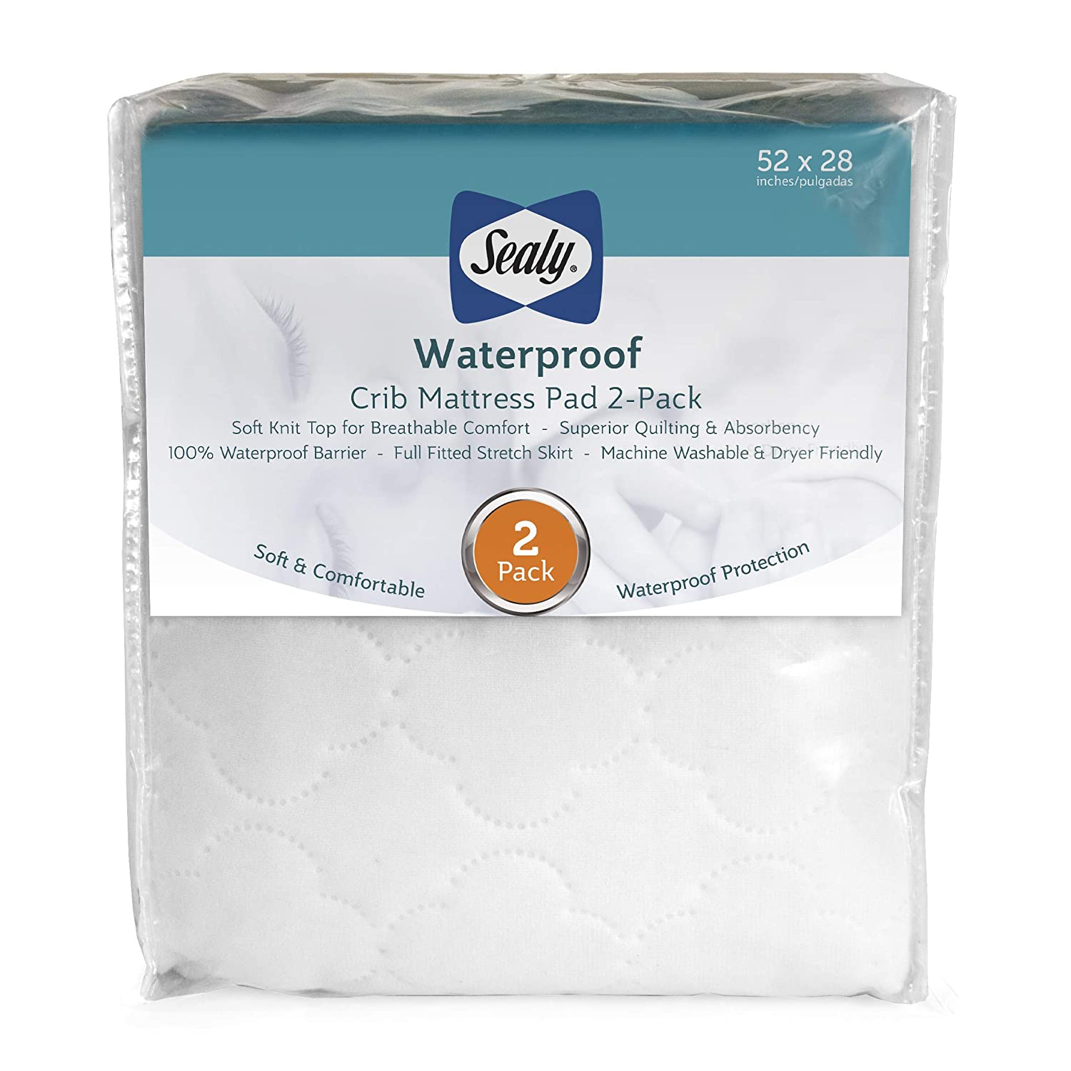 Best waterproof crib mattress pad 2 pack