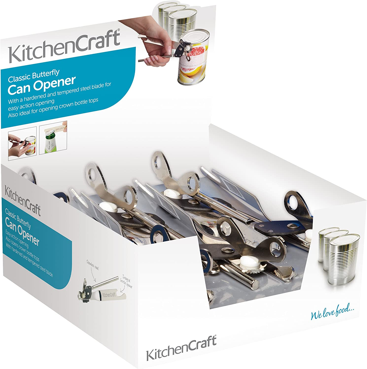 Kitchen Craft Butterfly Wing Style Can Openers