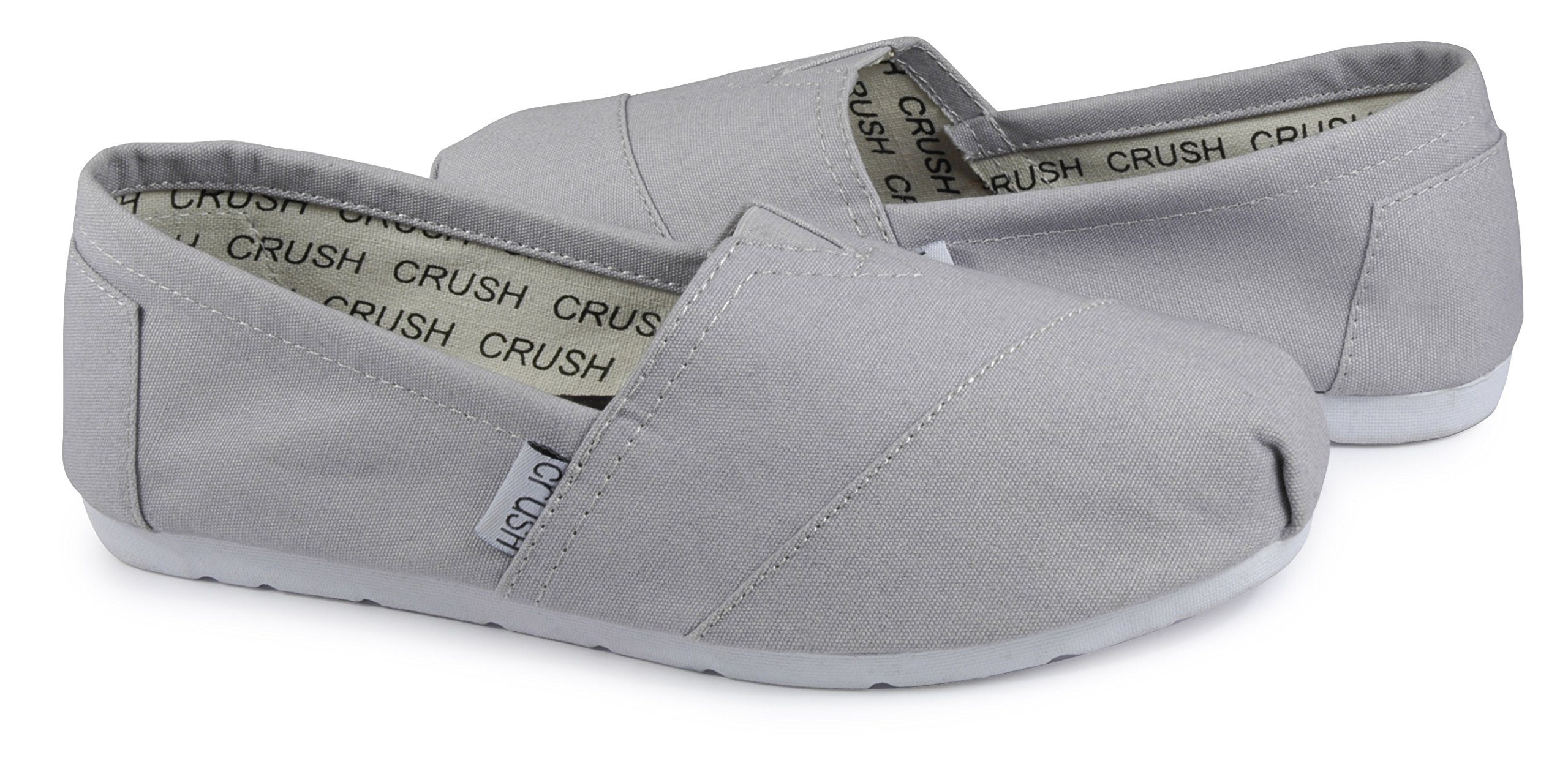 Crush Scrubs Women's Canvas Slip On Shoes with Memory Foam Anti-Microbial Insoles and Anti Slip Sole (Extra Insoles and Bag)