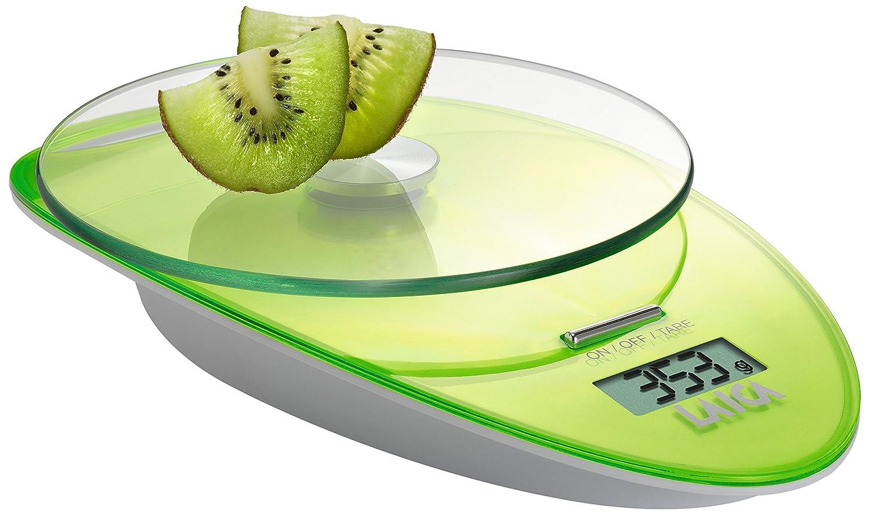Laica KS1005 Bilancia da Cucina Elettronica, Piatto in Vetro Temperato, 3 kg, Colore Verde KS1005VE Peso Soehnle Salter