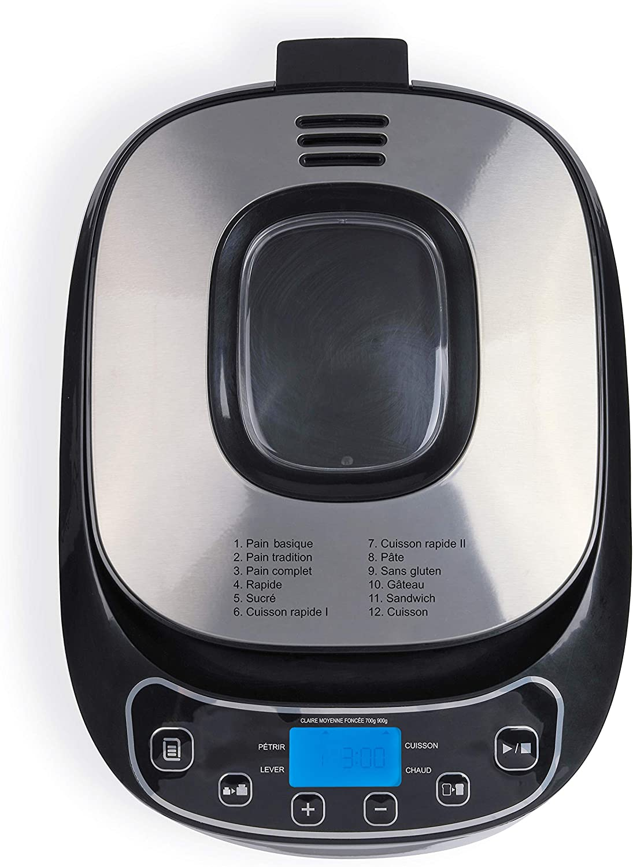 LIVOO DOP218 Machine /à Pain Fait Maison 12 Programmes 3 degr/és de Cuisson de la cro/ûte