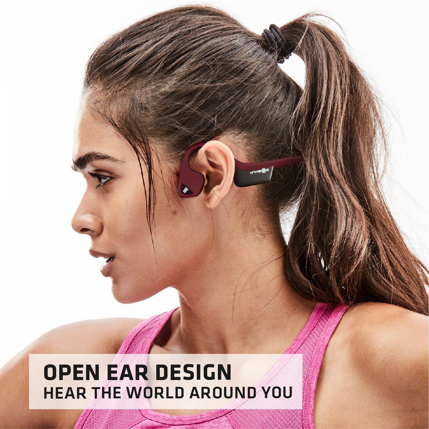 AfterShokz Trekz Air Open Ear Wireless Bone Conduction Headphones AS650SG Slate Grey