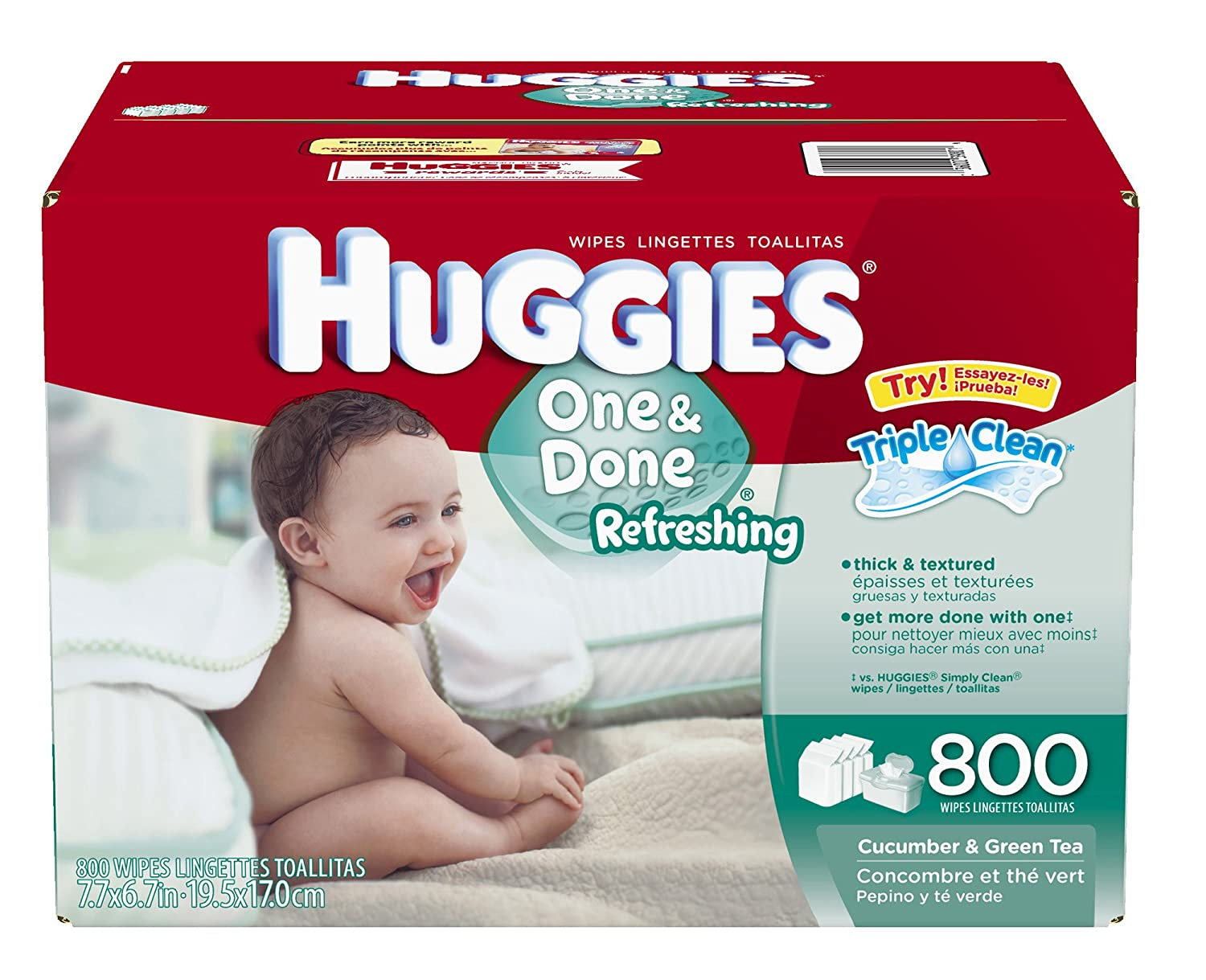 Amazon.com: Huggies One & Done Refreshing Baby Wipes, 800 ct.: Health & Personal Care