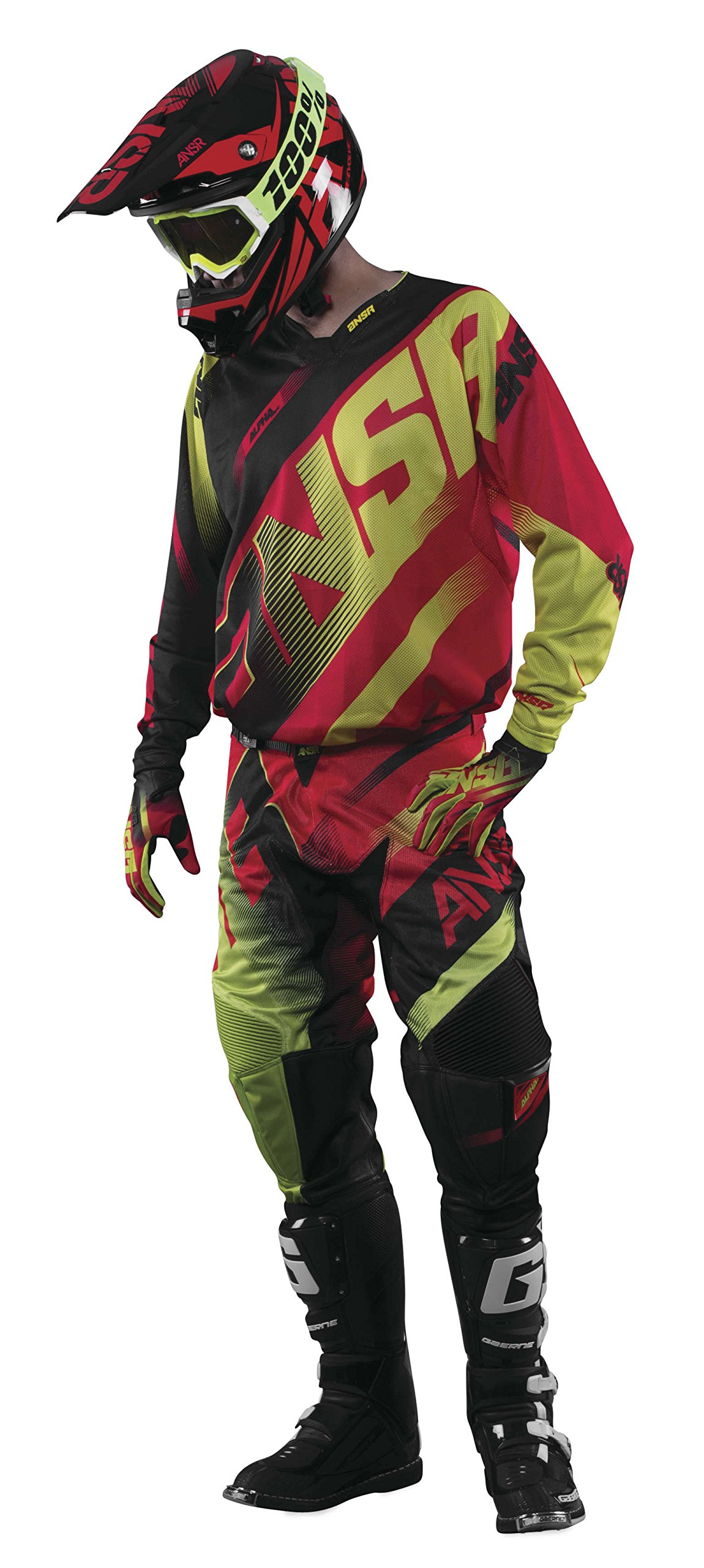 Answer 2016.5 Alpha Air Jersey (XX-LARGE) (RED/ACID)