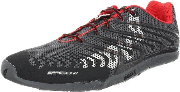 INOV8 Bare-X 180 Zapatilla de Running Unisex, Gris/Rojo, 37: Amazon.es: Zapatos y complementos