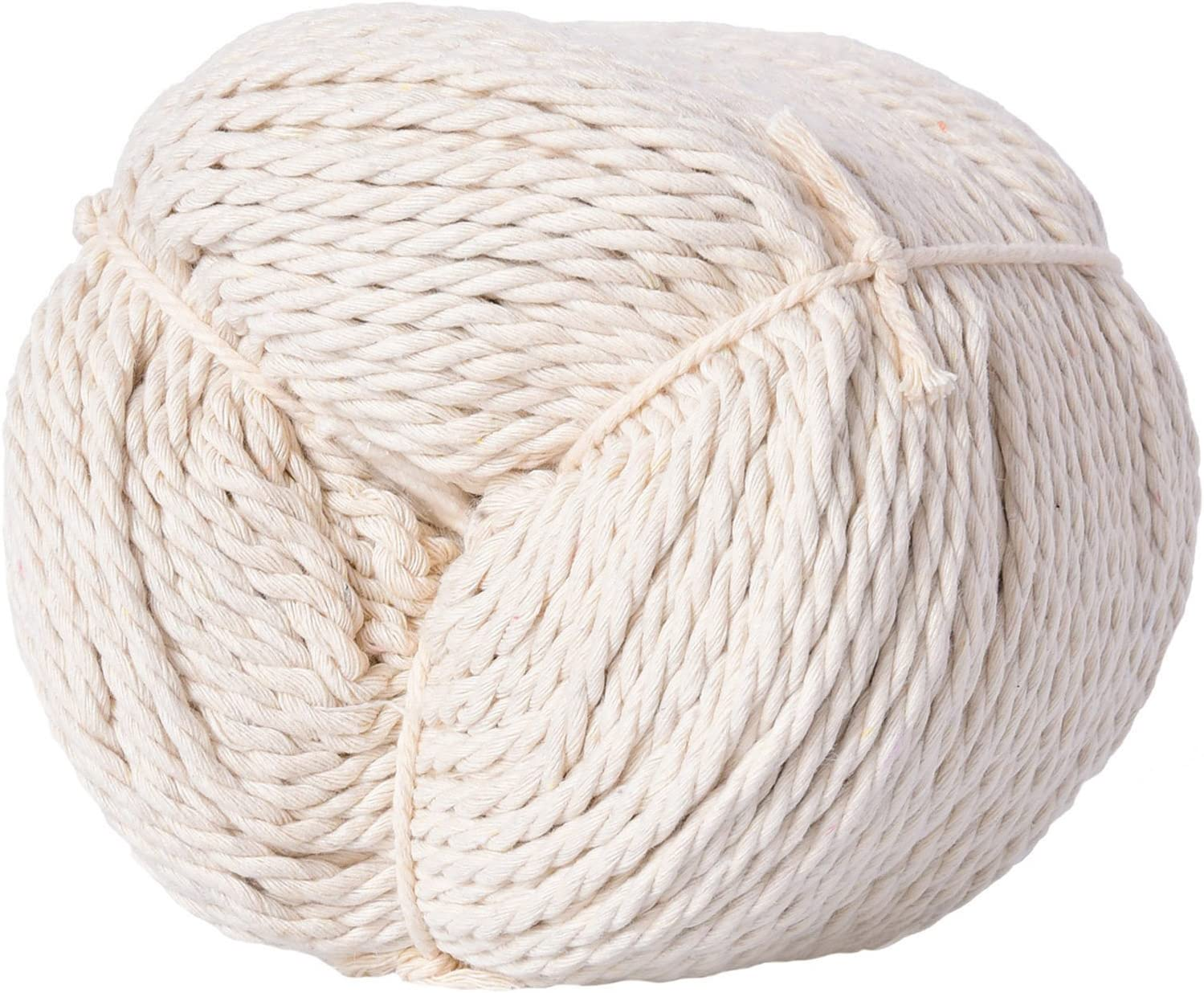 Natural Cotton Macrame Rope for Wall Hang#51 XKDOUS Macrame Cord 4mm x 220Yards