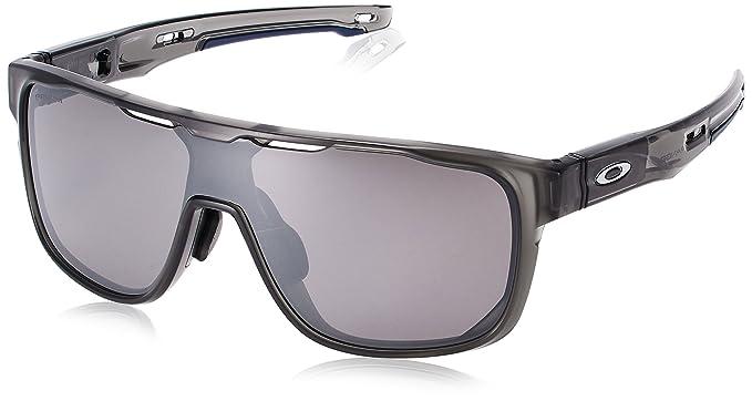 2057257491a Oakley Men s Crossrange Shield (a) Iridium Rectangular Sunglasses MATTE  GREY SMOKE ...