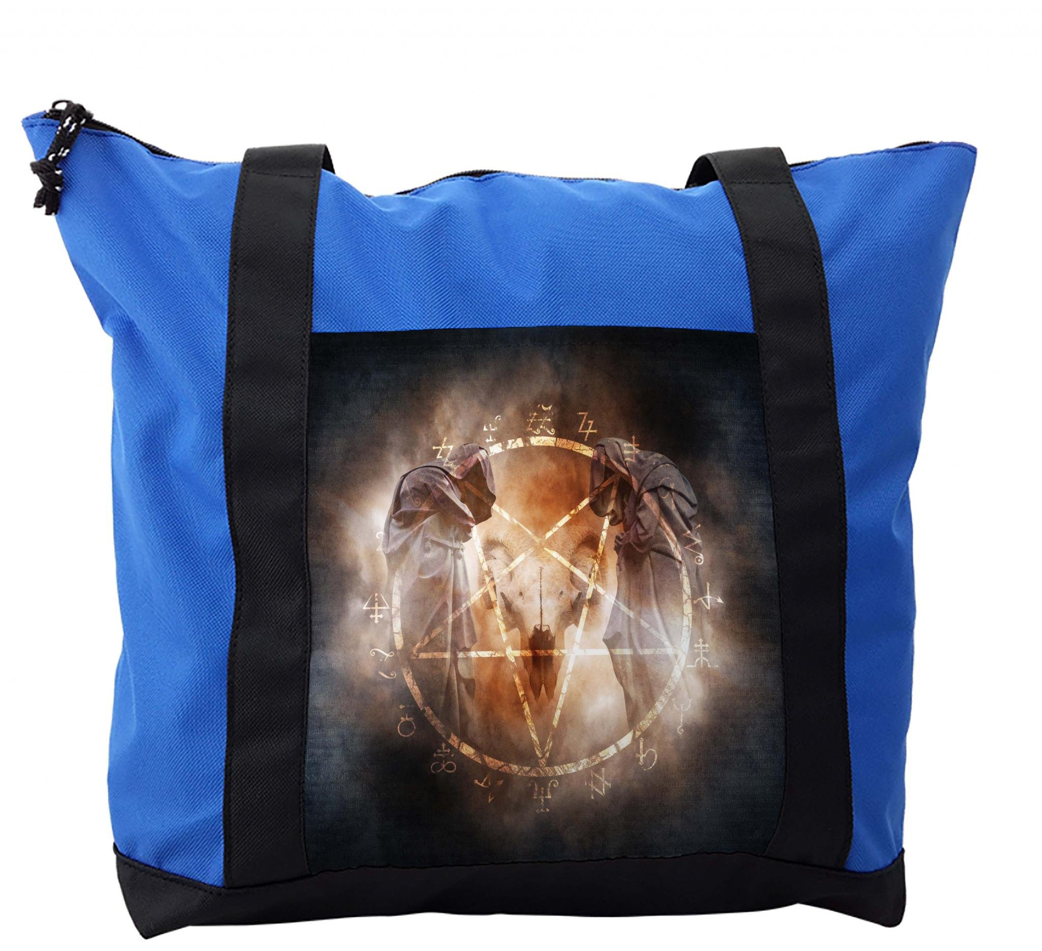 Lunarable Horror House Shoulder Bag, Pentagram in Flames, Durable with Zipper