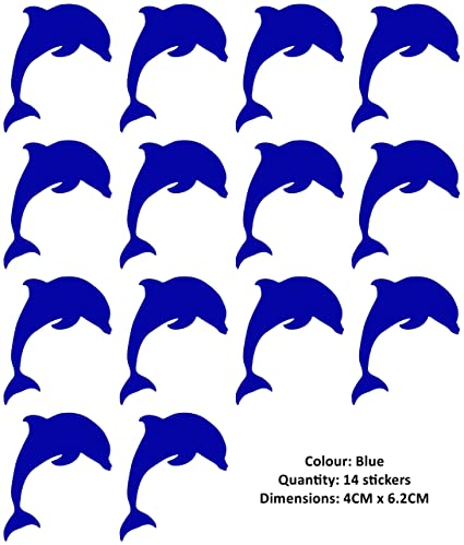 20 x Dolphin Vinyl Wall Tile Stickers Decals Transfer For Bathroom//Kitchen Tiles