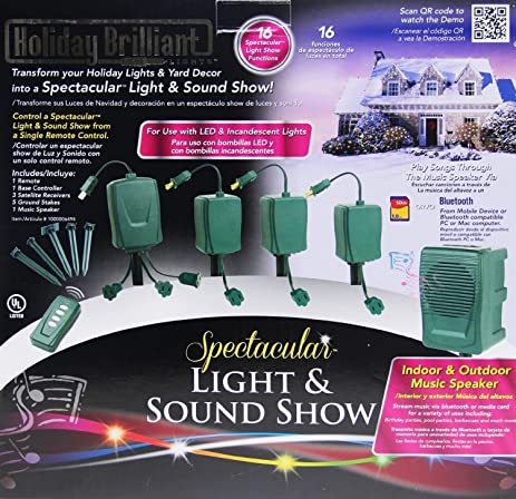 Bluetooth Christmas Holiday Spectacular Light & Sound Show Outdoor Display  for iPhone and Android - Amazon.com: Bluetooth Christmas Holiday Spectacular Light & Sound