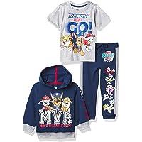 Nickelodeon Paw Patrol Graphic Hoodie, T-Shirt, & Jogger Sweatpant, 3-Piece Athleisure Outfit Bundle Set-Toddler Boys…