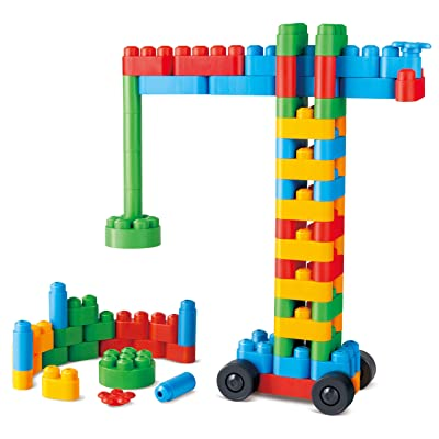 Hape 760008 Poly Creative Builder Kit Building Blocks (80 Piece), Multicolor: Toys & Games