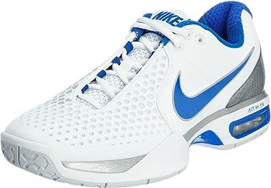 Necesitar longitud Prisionero  NIKE Air Max Courtballistec 3.3 Men's Tennis Shoes, White/Blue, UK7.5:  Amazon.co.uk: Shoes & Bags