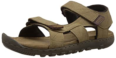 Men's Leather And Floaters Woodland Sandals dsQCthr