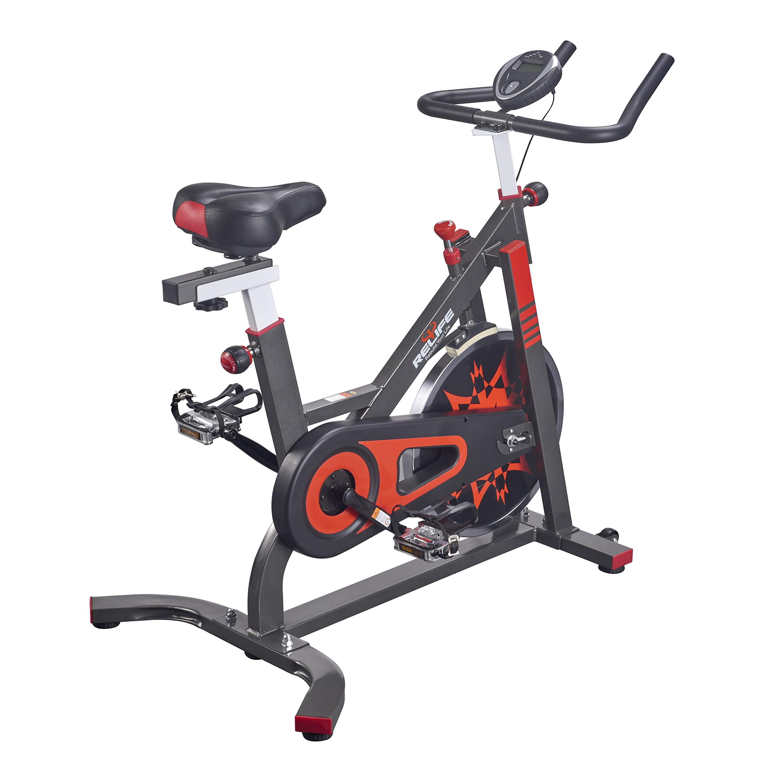 RELIFE REBUILD YOUR LIFE Exercise Bike Indoor Cycling Bicycle Stationary Bikes Cardio Workout Machine Upright Bike Belt Drive Home Gym by RELIFE REBUILD YOUR LIFE