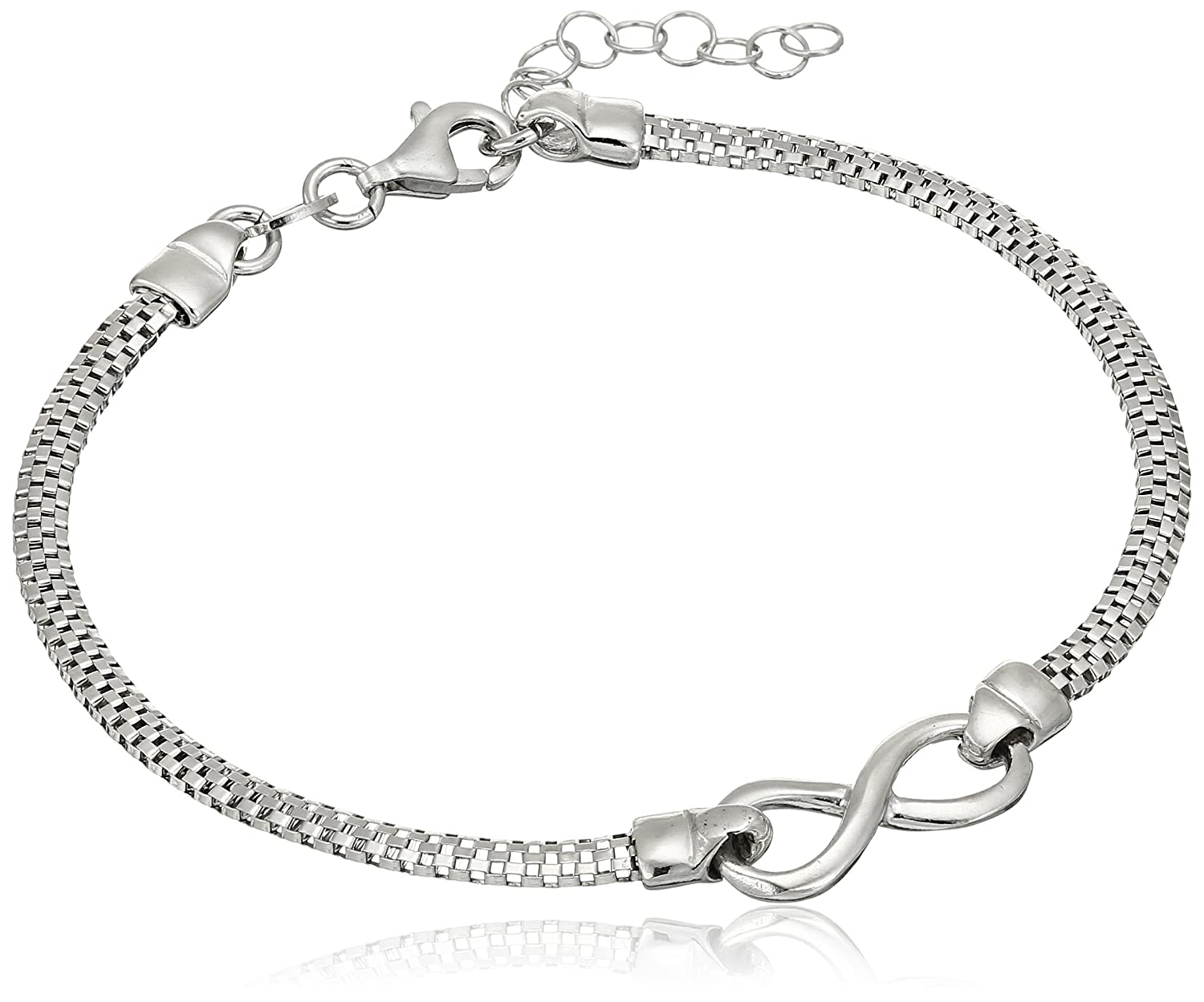 Italian Sterling Silver Infinity Bracelet Amazon Collection SSB012454S85