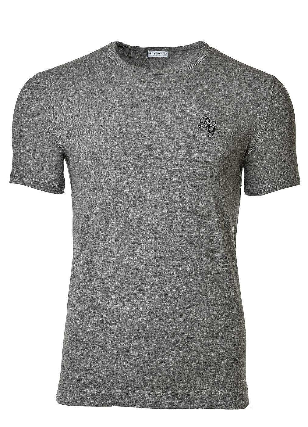 Dolce & Gabbana Camiseta para Hombres, Ropa Interior, Girocollo, Cuello Redondo, Stretch de Algodón: Amazon.es: Ropa y accesorios