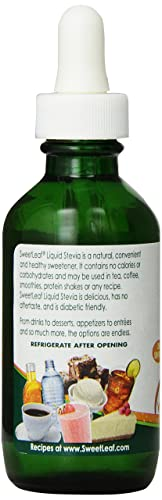 SweetLeaf Sweet Drops Liquid Stevia Sweetener, Valencia Orange, 2 Ounce