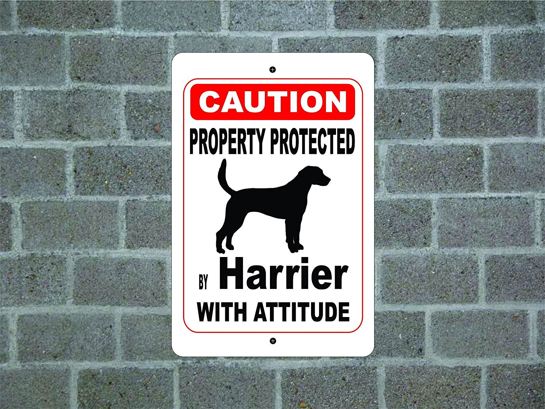 teisyouhu面白いペットSignギフトプロパティProtected Byグリフォンブルードガスコーニュガード犬警告Breedメタルアルミサイン壁プラークデコレーションCaution Sign 12x18 inch 309 カラー 9 B07CZ9569T