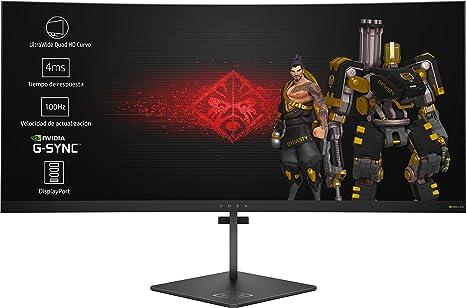 HP OMEN X 35 - Monitor Gaming para PC Desktop G-sync + Altura Ajustable de 88.90 cm (35 pulgadas, 300 cd/m², 3440 x 1440 pixeles, 4 ms, LED, UltraWide Quad HD): Hp: Amazon.es: Informática