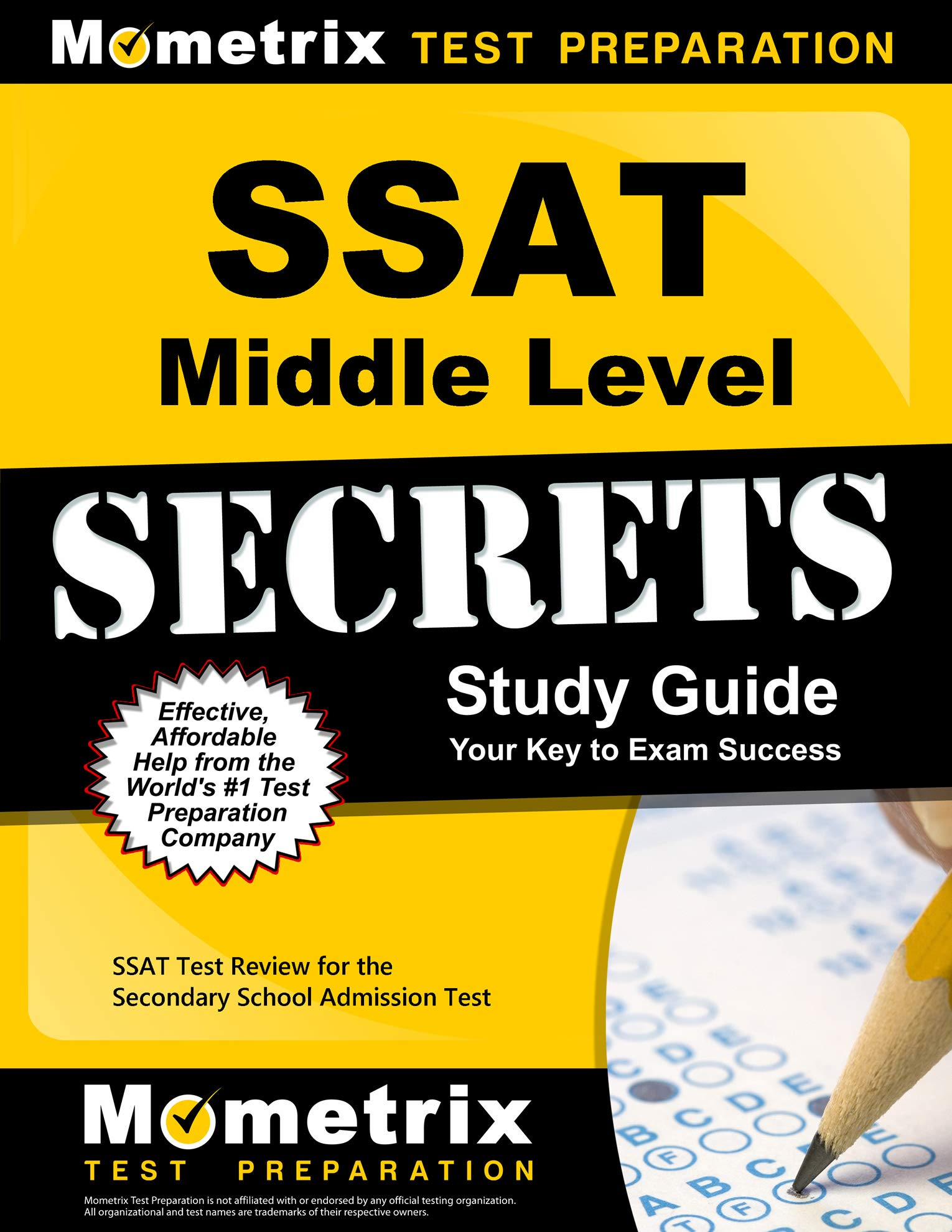 SSAT Test Review for the Secondary School Admission Test SSAT Middle Level Secrets Study Guide