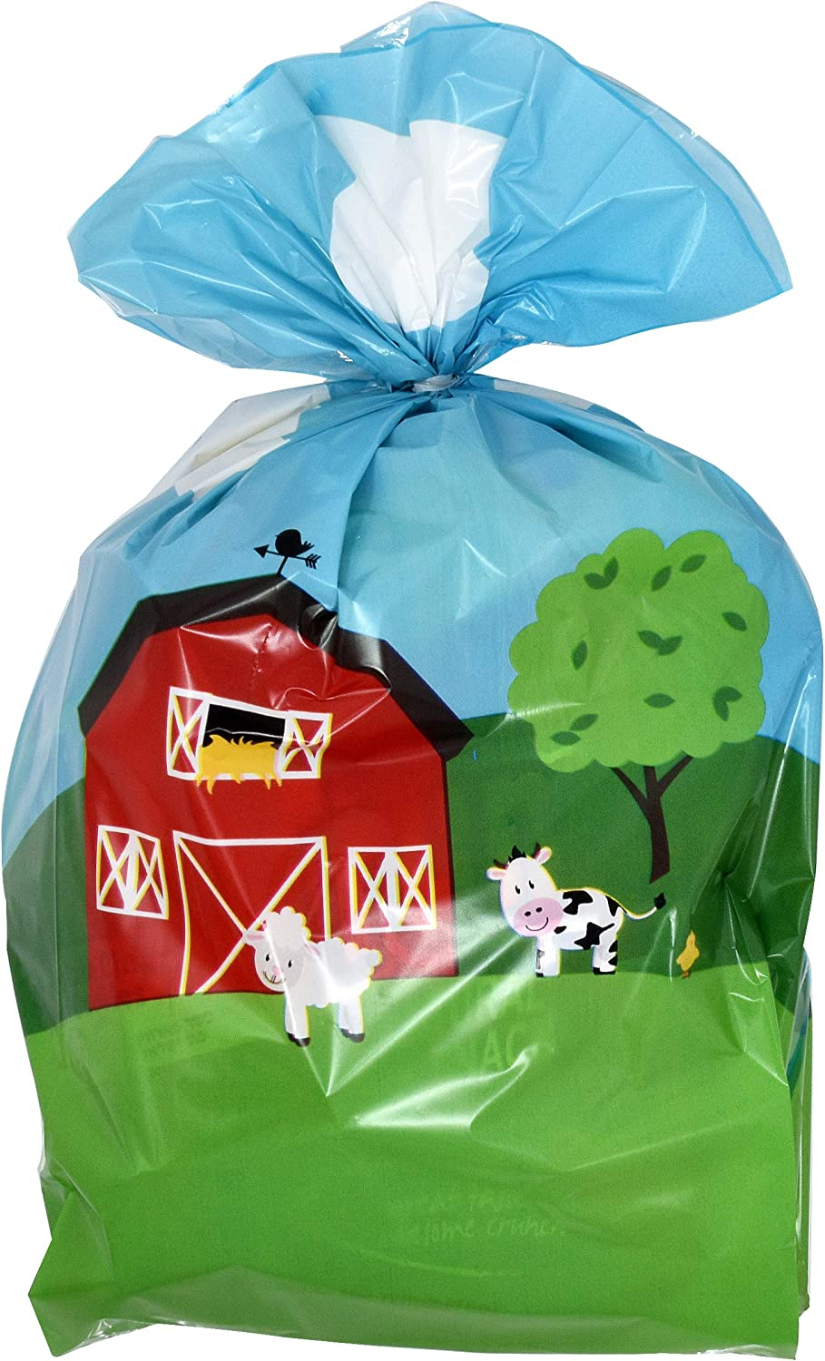 Carnival Candy Goody Grab Bag by Gift Boutique Games 100 Farm Cellophane Bags Animal Barnyard Plastic Treat Favor Bag For Baby Shower /& Birthday Party Supplies Decorations For Kids Classroom Reward