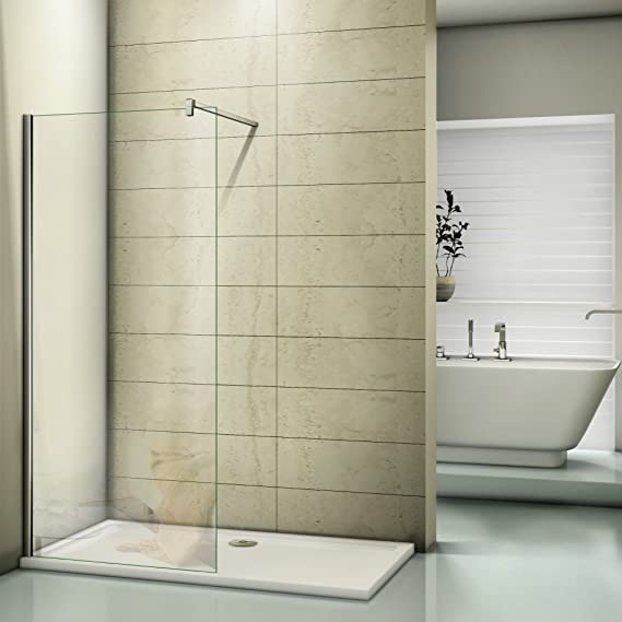 Ducha Ducha Pared Walk In – Mampara de ducha de 6 mm Easy Clean ...