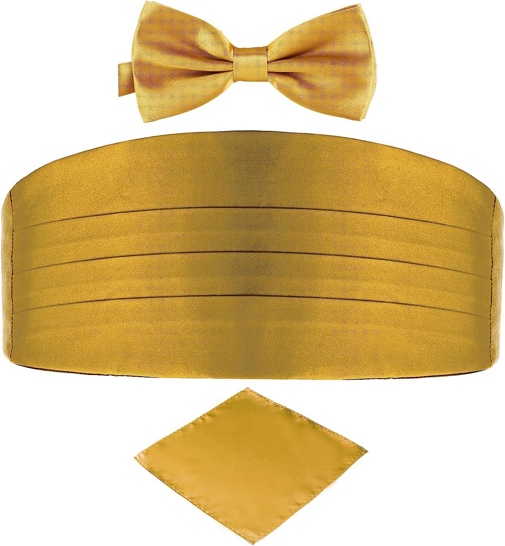 contenente fascia da smoking papillon e fazzoletto da taschino DonDon set di 3 pezzi da uomo tutti dello stesso colore per occasioni festive