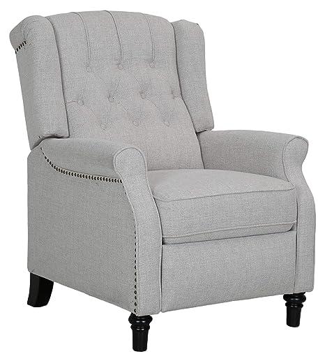 Prime Ravenna Home Pritchard Classic Recliner 29 1W Light Grey Frankydiablos Diy Chair Ideas Frankydiabloscom