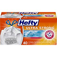 40-Count Hefty 13-Gallon Ultra Strong Tall Kitchen Trash Bags (Clean Burst Scent)