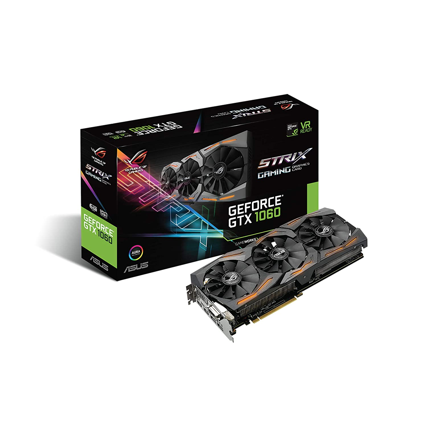 Amazon.com: ASUS Graphic Cards STRIX-GTX1060-A6G-GAMING: Computers & Accessories