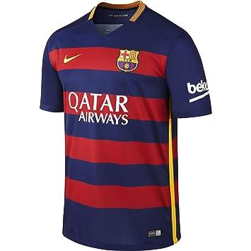 Nike 1º Equipación FC Barcelona 2015 2016 - Camiseta oficial  Amazon ... 559769881e1