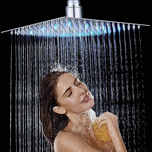 Alcachofa de ducha, acero inoxidable, cromado, 16 pulgadas