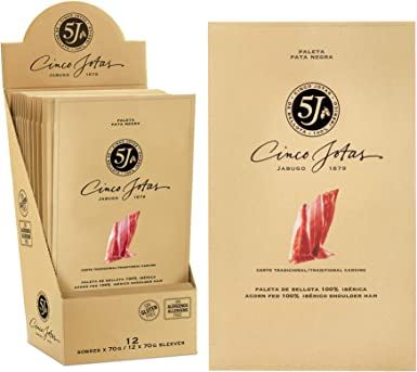 Cinco Jotas - Paleta Bellota 100% Ibérica 5J, caja de 12 sobres de ...