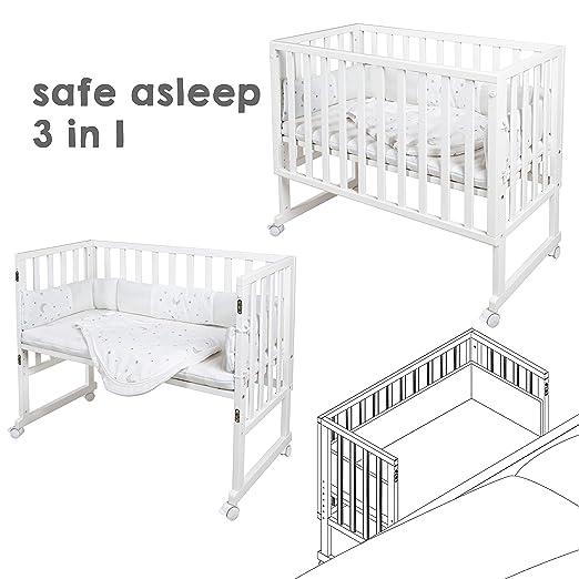 Roba 8960WE-50V209 - Cuna 3 en 1, color blanco: Amazon.es: Bebé