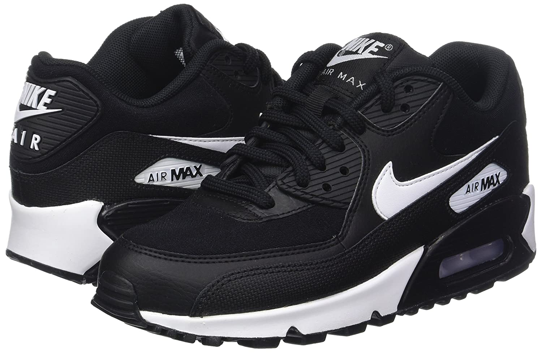 Amazon.com   Nike Womens Air Max 90 Black 325213-047 (Size: 5.5)   Shoes